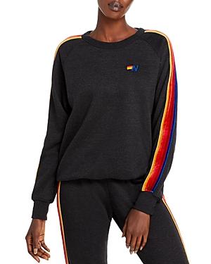 Aviator Nation Velvet Striped Sweatshirt