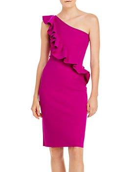 Chiara Boni La Petite Robe - Marine Ruffled One-Shoulder Dress - 100% Exclusive