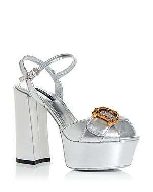Dolce & Gabbana Women\\\'s High Block Heel Platform Sandals