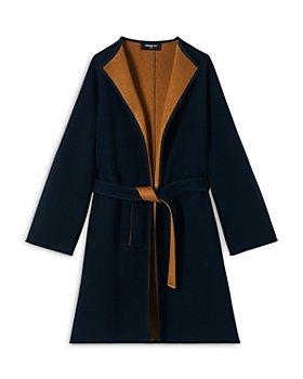 PAULE KA - Two Tone Wrap Coat