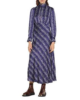 Sandro - Angie Long Printed Dress