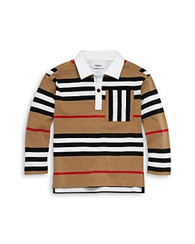 Burberry - Boys' Cuthbert Icon Stripe Rugby Shirt - Little Kid, Big Kid