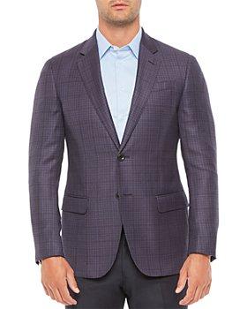 Armani - Regular Fit Wool Dark Solid Jacket