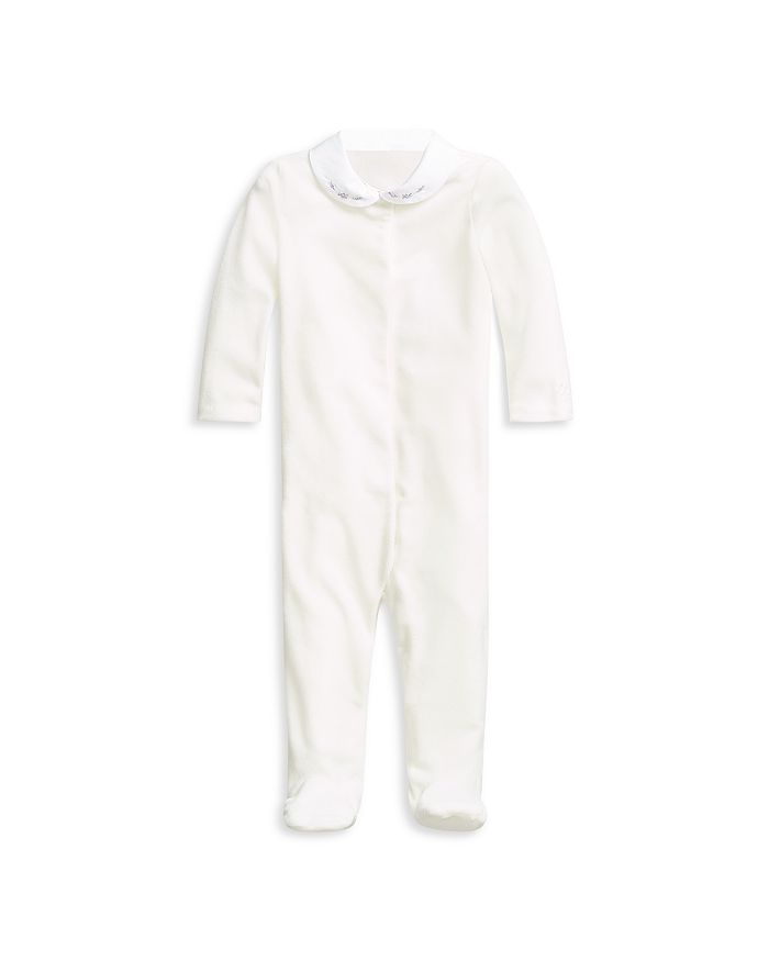 Ralph Lauren - Velour Rosette Footed Coverall - Baby
