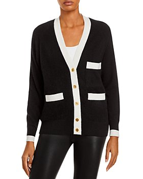 C by Bloomingdale's - Tipped Grandfather Cashmere Cardigan - 100% Exclusive