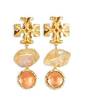 Tory Burch - Roxanne Logo Double Drop Earrings