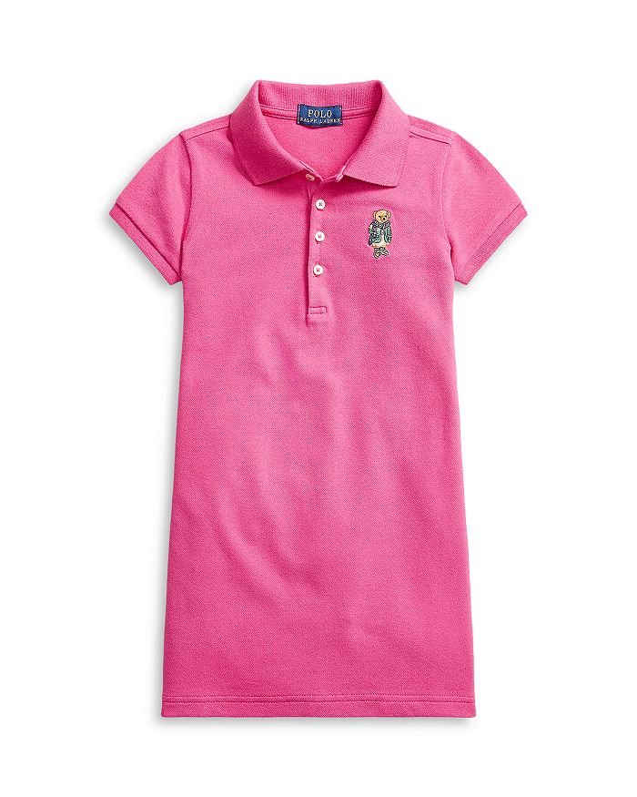 Ralph Lauren - Girls' Blazer Bear Mesh Polo Dress - Little Kid, Big Kid