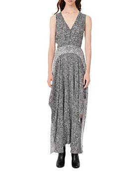 Maje - Renalle Asymmetrical Animal Print Dress