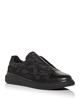 KARL LAGERFELD PARIS - Men's Leather Slip-On Sneakers