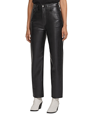 Agolde 90s Fitted Recycled Leather Pants