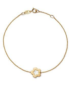 Bloomingdale's - Flower Bracelet in 14K Yellow Gold - 100% Exclusive