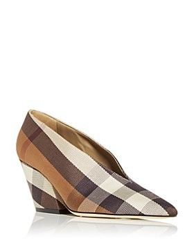 Burberry - Women's Brierfield Check Pointed Toe Pumps