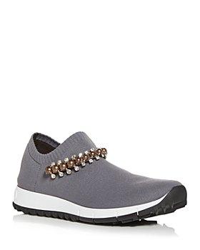Jimmy Choo - Women's Verona Embellished Knit Slip On Sneakers