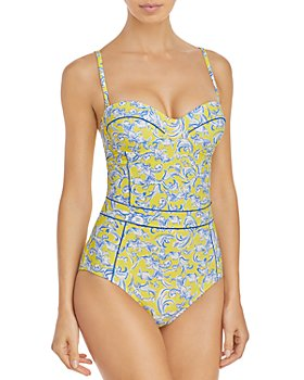 Tory Burch - Printed Underwire One Piece Swimsuit