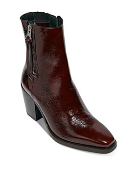 ALLSAINTS - Women's Cohen Double Zipper High Heel Booties