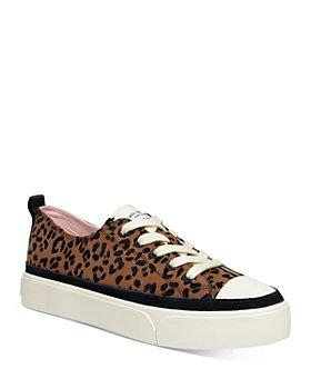 kate spade new york - Women's Kaia Leopard Print Trim Platform Sneakers