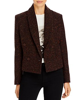 Anine Bing - Mae Double Breasted Button Front Blazer