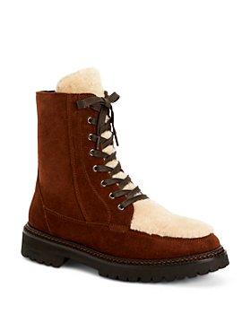 Aquatalia - Women's Marlee Weatherproof Calf Leather & Shearling Boots