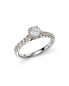 Bloomingdale's - Round Cut Engagement Ring in 14K White Gold - 100% Exclusive