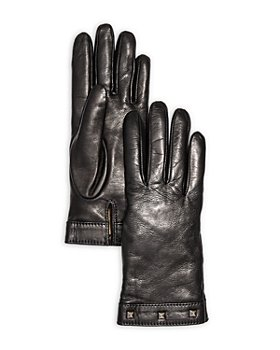 Bloomingdale's - Studded Leather & Cashmere Gloves - 100% Exclusive