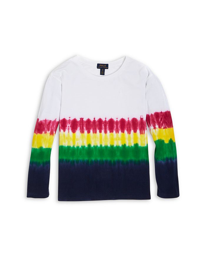 Ralph Lauren - Girls' Tie Dye Stripe Shirt - Little Kid, Big Kid