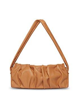 Elleme - Long Vague Ruched Leather Shoulder Bag
