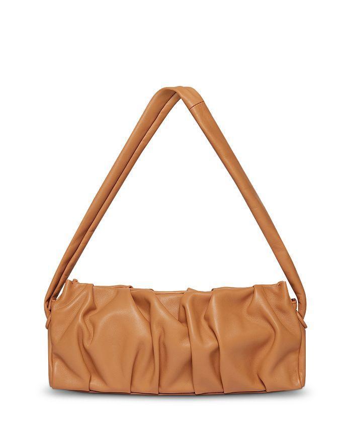 Elleme - Long Vague Ruched Leather Shoulder Bag
