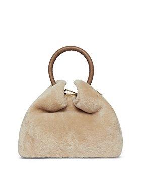 Elleme - Baozi Small Shearling & Leather Handbag