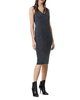 ALLSAINTS - Leigh Studded Sheath Dress