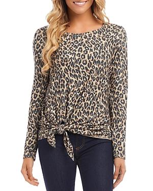 Karen Kane Leopard Print Tie Sweater