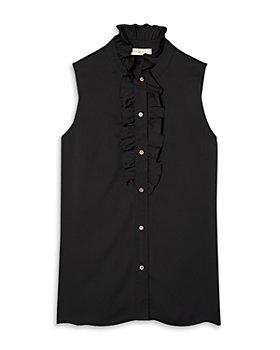 Tory Burch - Ruffle Trim Sleeveless Shirt