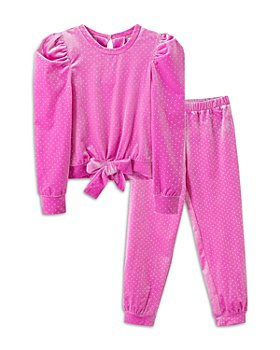 Habitual Kids - Girls' Justine Velour Metallic Dot Top & Pants Set - Little Kid