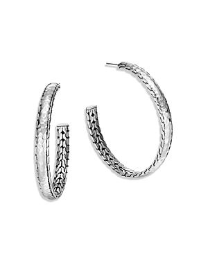 John Hardy Sterling Silver Palu Large Hoop Earring-Jewelry & Accessories