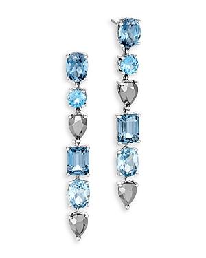 John Hardy Sterling Silver Classic Multi Gemstone Cahaya Drop Earrings-Jewelry & Accessories