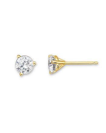 Bloomingdale's - Diamond Stud Earrings in 14K Yellow Gold, 1.0 ct. t.w. - 100% Exclusive