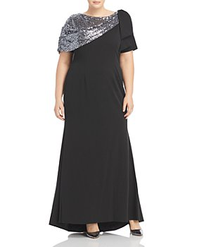 Adrianna Papell Plus - Sequin Crepe Gown