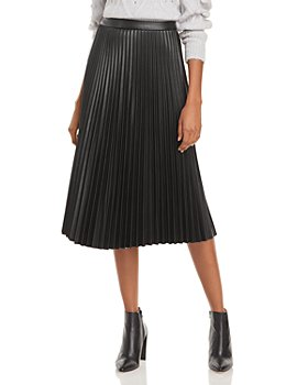 Lucy Paris - Faux Leather Pleated Skirt