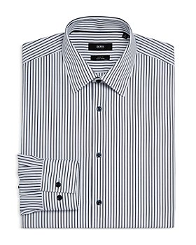 BOSS - Men's Jano Cotton Stripe Slim Fit Dress Shirt