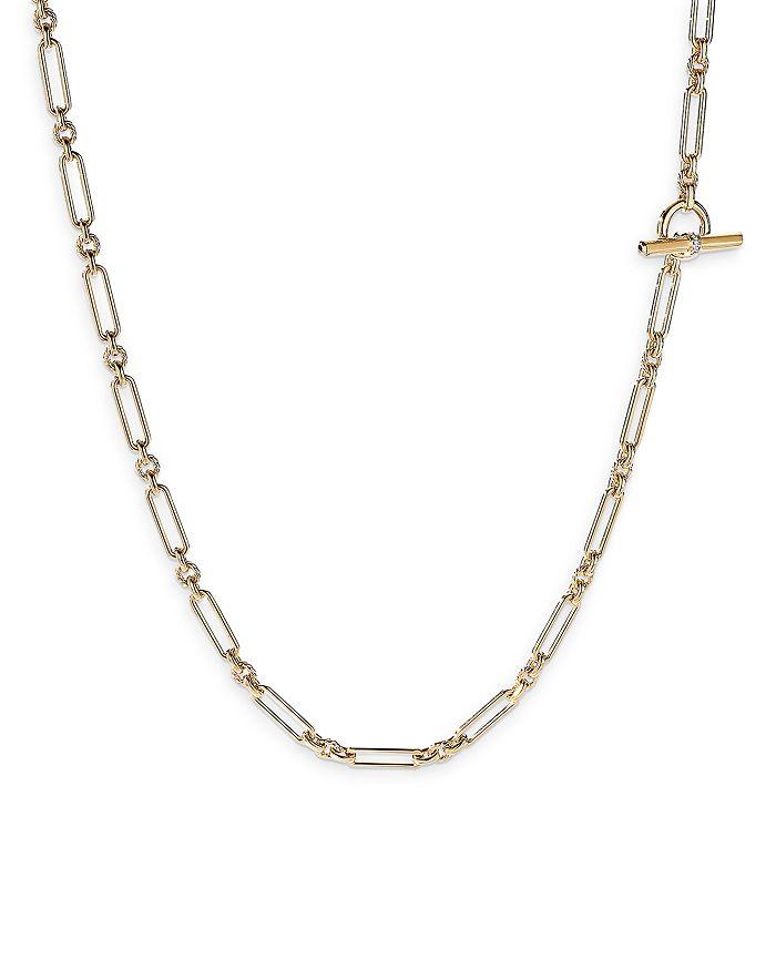 "David Yurman - Lexington Chain Necklace in 18K Yellow Gold with Diamonds, 36"""