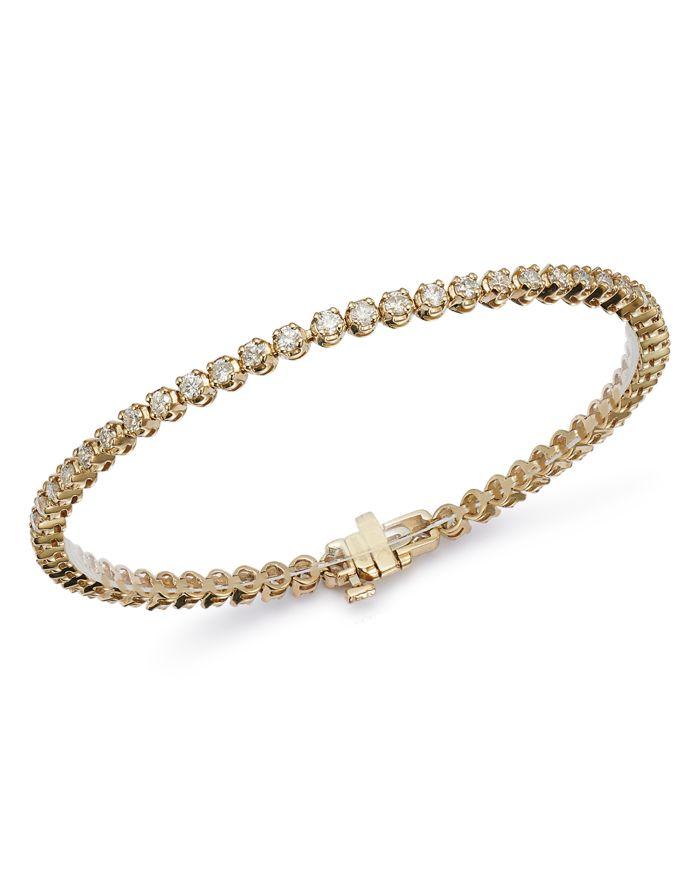 Bloomingdale's Certified Diamond Tennis Bracelet in 14K Yellow Gold, 2.50-10.0 ct. t.w. - 100% Exclusive    Bloomingdale's