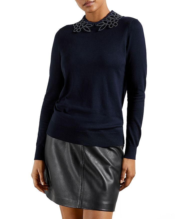 Ted Baker - Azaleo Embellished Collar Sweater