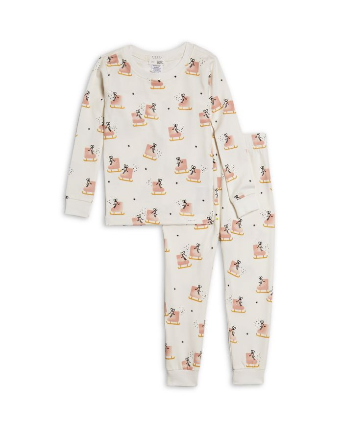 FIRSTS by petit lem FIRSTS by petite lem Girls' Ice Skates Print Pajama Set - Baby  | Bloomingdale's