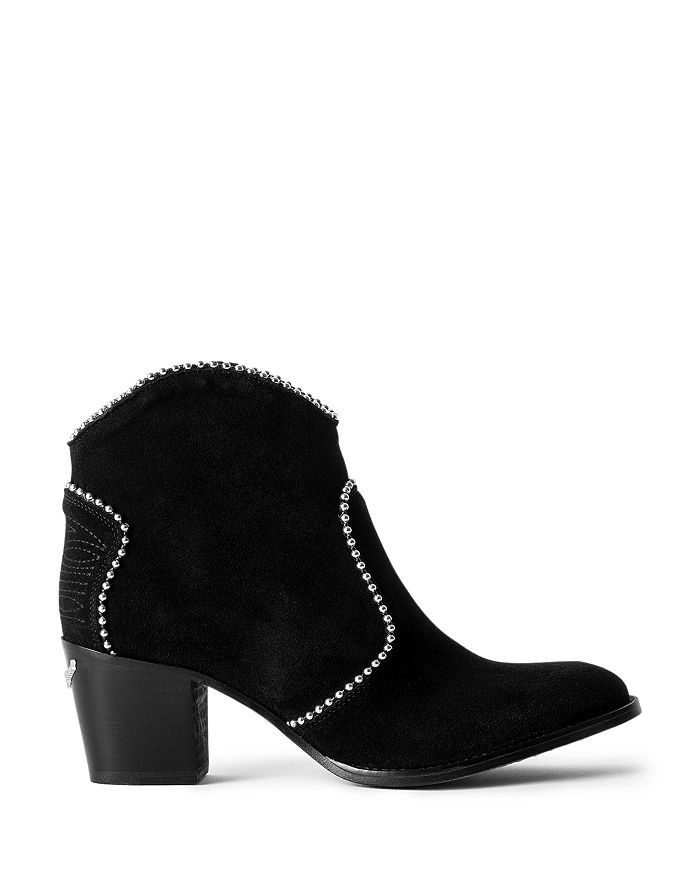 Zadig & Voltaire - Women's Molly Stud Piping Suede Ankle Boots