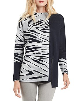 NIC and ZOE - Tahoe Color Blocked Zip Sweater
