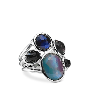 Ippolita Sterling Silver Wonderland Multi Stone Doublet Cluster Ring in Astro-Jewelry & Accessories