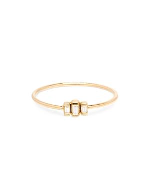 Zoe Lev 14K Yellow Gold Diamond Baguette Stacking Ring