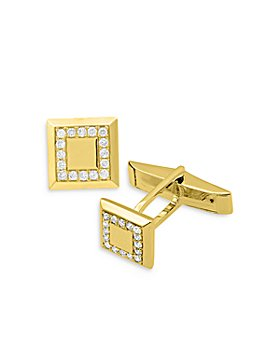 Bloomingdale's - Diamond Square Cufflinks in 14K Yellow Gold - 100% Exclusive