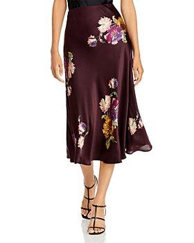Rebecca Taylor - Silk Floral Print Midi Skirt