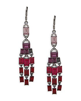 Ralph Lauren - Pavé & Multicolor Stone Chandelier Earrings in Hematite Tone