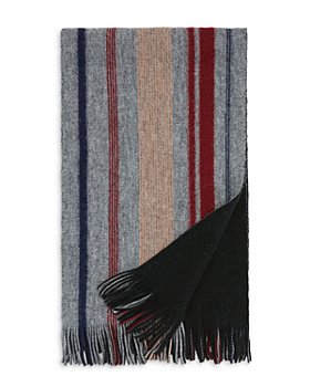 The Men's Store at Bloomingdale's - Doubleface Striped Wool Scarf - 100% Exclusive
